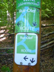 Die Rur-Olef-Route wurde von Einruhr nach Hellenthal erwandert