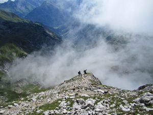 Auf dem Weg zum Gipfel des Muttlerkopfes